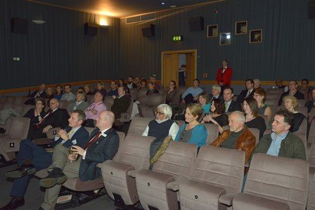 Attendees at the Black Gold on the Silver Screen event