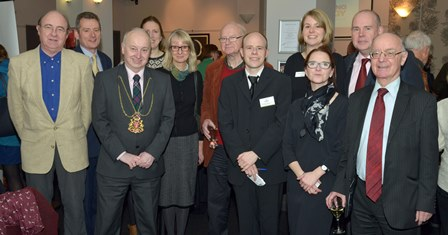 Eric Crockart, the Lord Provost of Aberdeen and the Capturing the Energy Steering Group at the film night